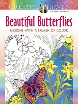Creative Haven Adult Coloring Book- Beautiful Butterflies