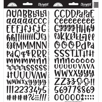 Abigail Alphabet Sticker- Beetle Black
