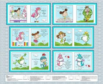 Kids Fabric Book Panel- Believe In Magic