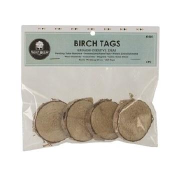 Birch Tags, 4pk