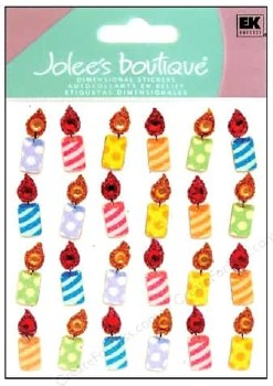 Jolee's Birthday Dimensional Repeats Stickers- Birthday Candles