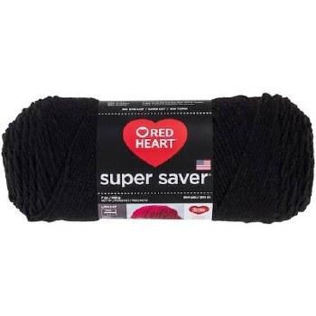 Red Heart Super Saver Yarn- Black