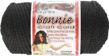 Bonnie 4mm Craft Cord- Black