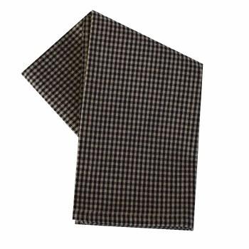 "Mini Check 20""x28"" Tea Towel- Teadye & Black"