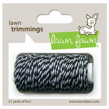 Lawn Fawn Trimmings Cord- Black Tie