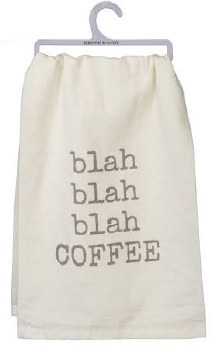 Dish Towel- Blah Blah Coffee