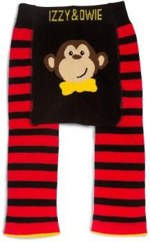 Baby Leggings, Monkey Red- 6-12m