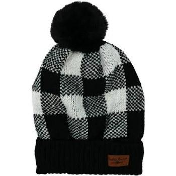 Buffalo Plaid Beanie- Black & White Check