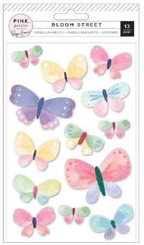 Bloom Street Stickers- Dimensional Butterflies
