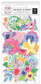 Bloom Street Ephemera Die Cuts- Mixed Florals