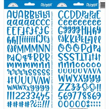 Abigail Alphabet Sticker- Blue Jean