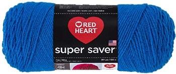 Red Heart Super Saver Yarn- Blue
