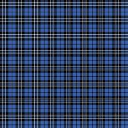 Reminisce Plaid 12x12 Paper- Blue Tartan