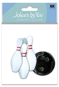 Jolee's Bowling Dimensional Stickers- Bowling Pins