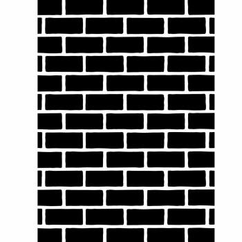 Darice Embossing Folder- Background- Brick Wall
