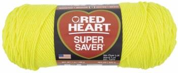 Red Heart Super Saver Yarn- Bright Yellow
