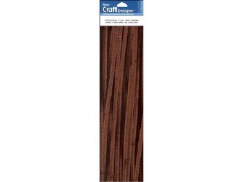 "Darice Chenille Stems 6mm, 12""- Brown"