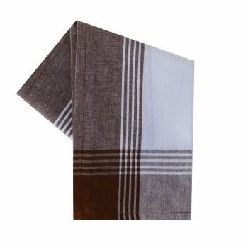 "McLeod Stripe 20""x28"" Tea Towel- White & Brown"