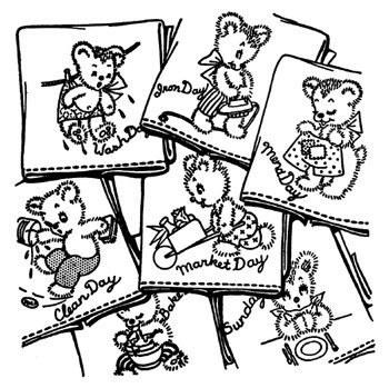 Aunt Martha's Iron On Transfers- Bruno the Bear #3243