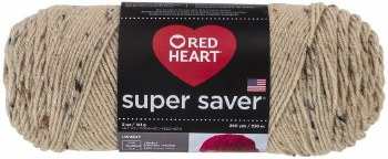 Red Heart Super Saver Yarn- Buff Fleck