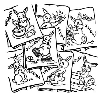 Aunt Martha's Iron On Transfers- Bunny Rabbitt #675