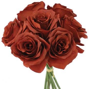Ashley Rose Wedding Bouquet- Burgundy