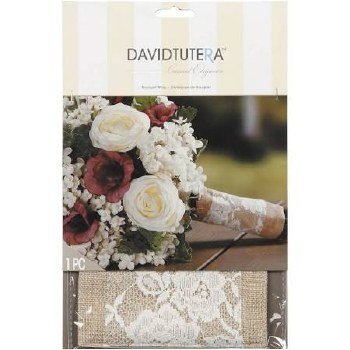 Bouquet Wrap- Burlap & Cream Lace