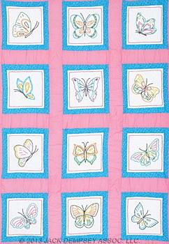 """9"""" Quilt Blocks- Butterflies"""
