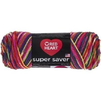 Red Heart Super Saver Yarn, Mulit-Color- Butterfly
