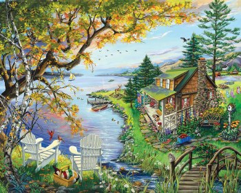 By the Lake - 1,000 Piece Puzzle