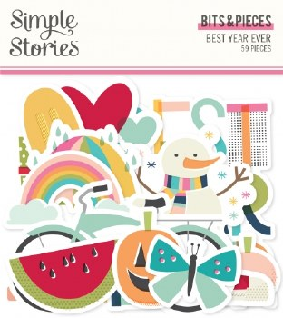 Best Year Ever Bits & Pieces Die Cuts