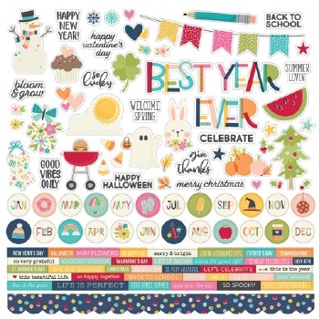 Best Year Ever Sticker Sheet