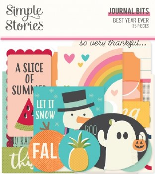 Best Year Ever Bits & Pieces Die Cuts- Journal
