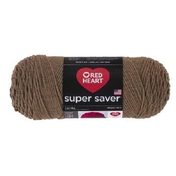Red Heart Super Saver Yarn- Cafe