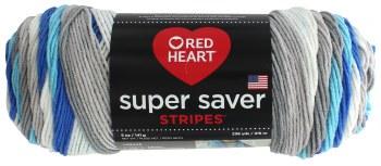 Red Heart Super Saver Yarn, Stripes- Calm