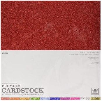 "12x12"" Glitter Silk Cardstock Assortment, 20ct"