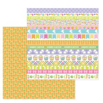 Hoppy Easter 12x12 Paper- Carrot Patch