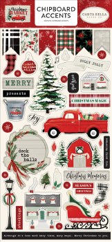 Christmas Market Chipboard Accents