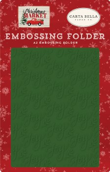 Christmas Market Embossing Folder- Joy