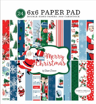 Merry Christmas 6x6 Paper Pad