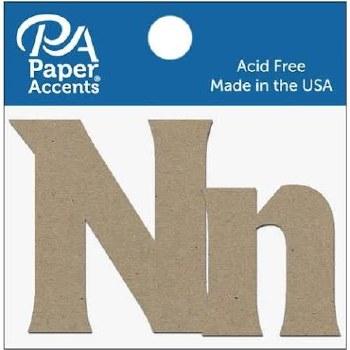 "2"" Chipboard Letter, 2pk- Nn"