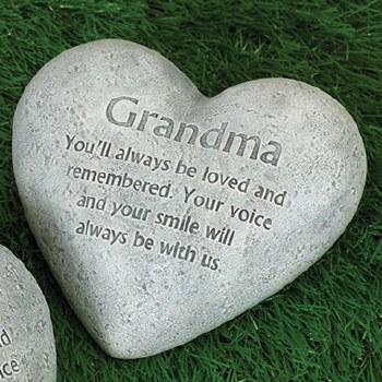 """6"""" Heart Memorial Stone- Grandma"""