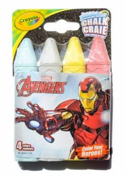Crayola Sidewalk Chalk- Avengers, 4pk