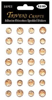 Adheisve Rhinestones- Speckled, Champagne
