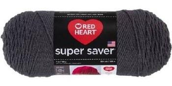 Red Heart Super Saver Yarn- Charcoal