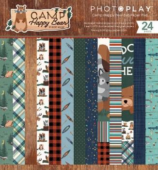 Camp Happy Bear 6x6 Paper Pad