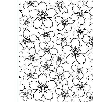 Darice Embossing Folder- Backgrounds- Cherry Blossoms