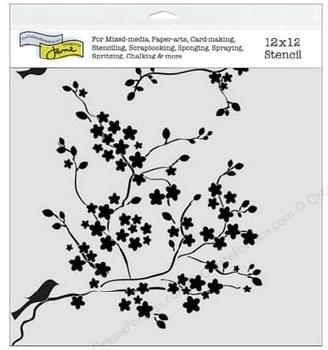 12x12 Stencil- Cherry Blossoms