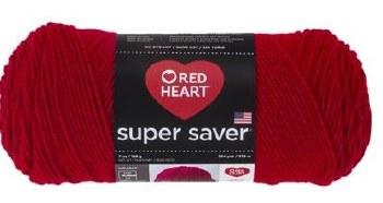 Red Heart Super Saver Yarn- Cherry Red