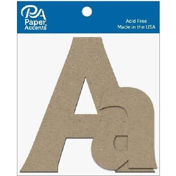 """4"""" Chipboard Letter, 2pk- Aa"""